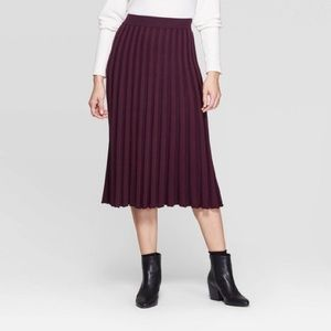 A New Day pleated knit midi skirt